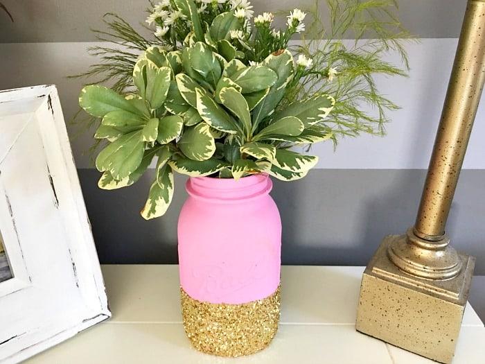 Large mason jar flower centerpiece