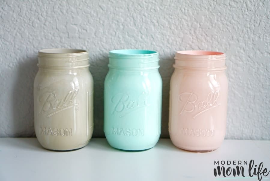 Paint mason jars diy