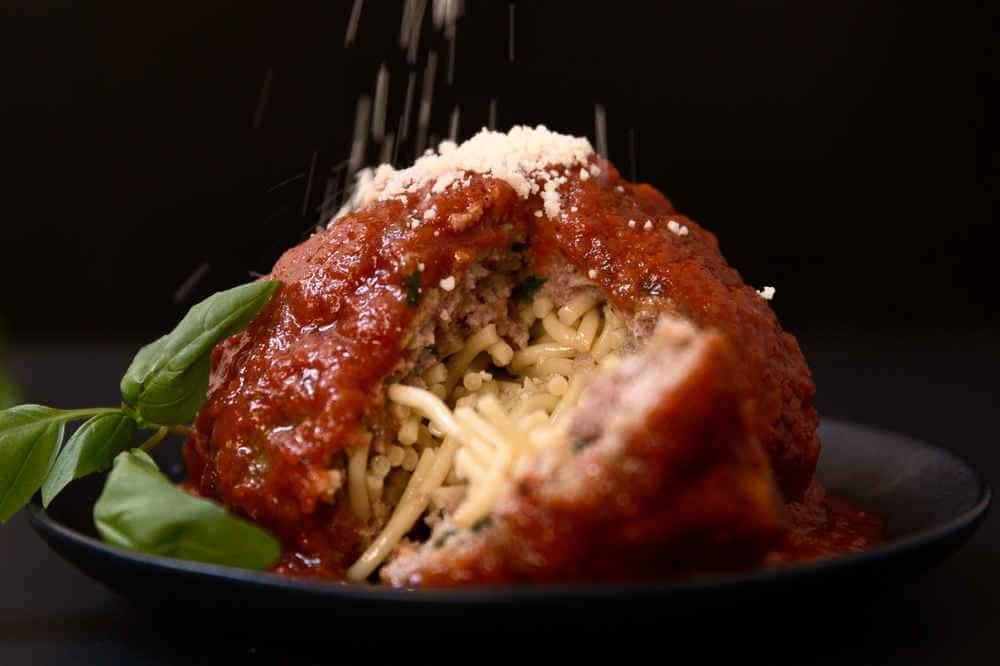 Spagetti dolması köfte