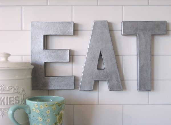 Anthropologie inspired zinc letters