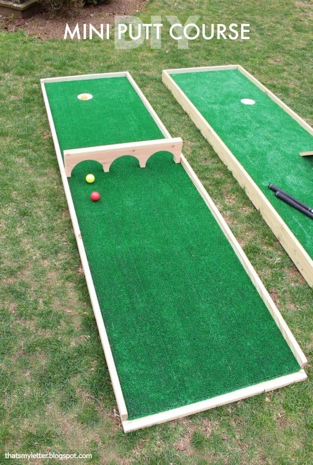 Backyard mini putt course