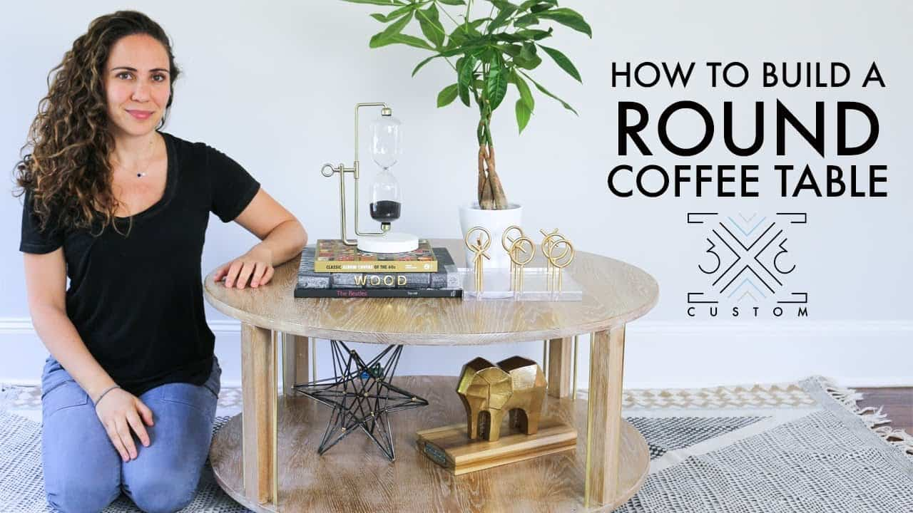 Basic tiered rounded coffee table for beginners
