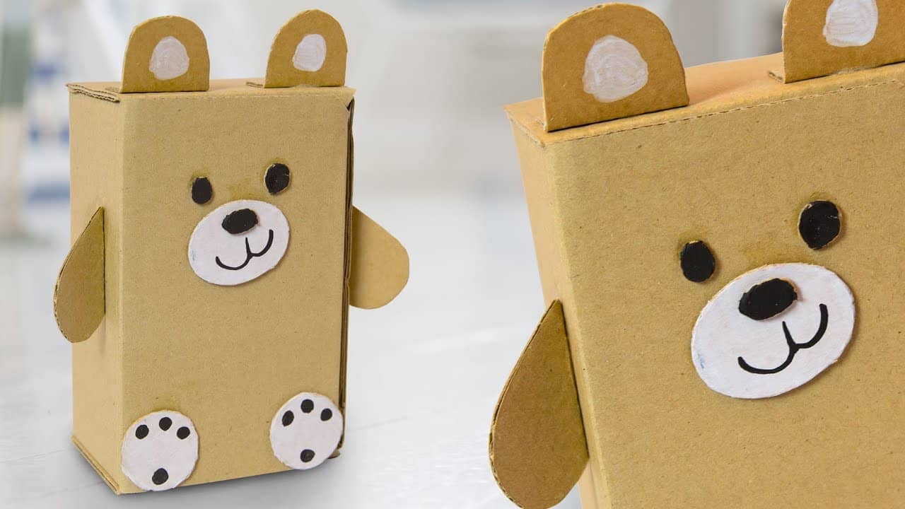 Cardboard teddy bear