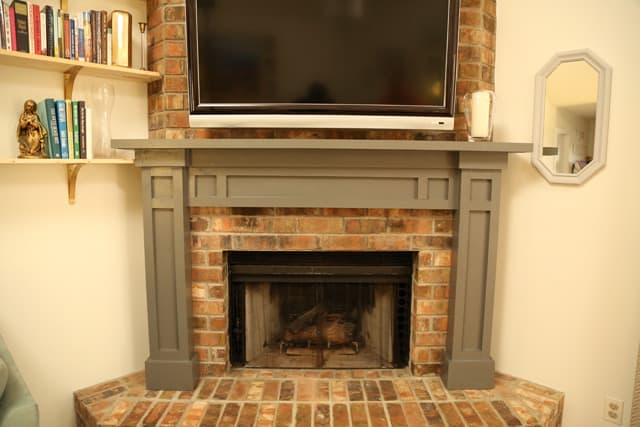 Clean, simple, shaker style mantel