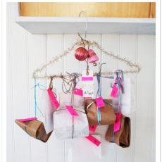 Coat hanger gift display