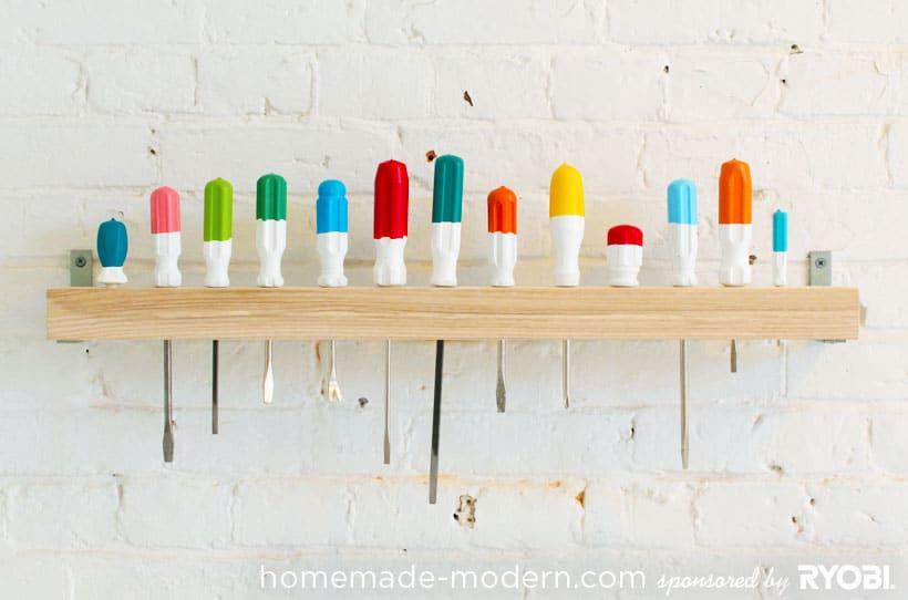 Colourful screwdriver storage