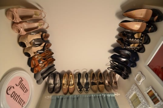 Crown moulding shoe rack