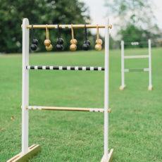 Diy backyard ladder toss game
