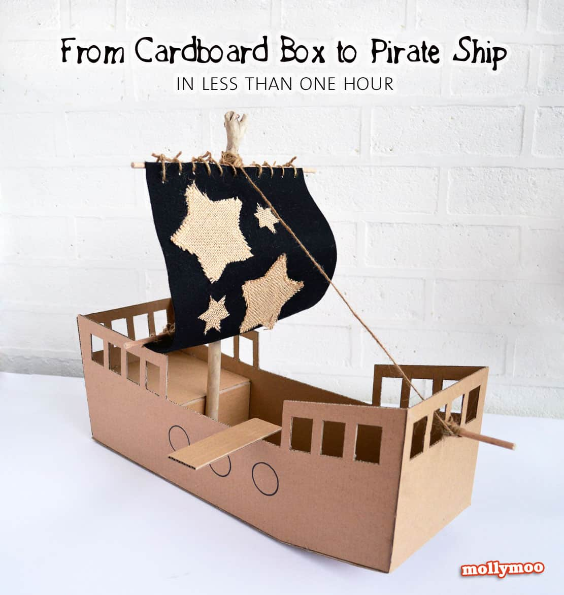 Diy cardboard pirate ship