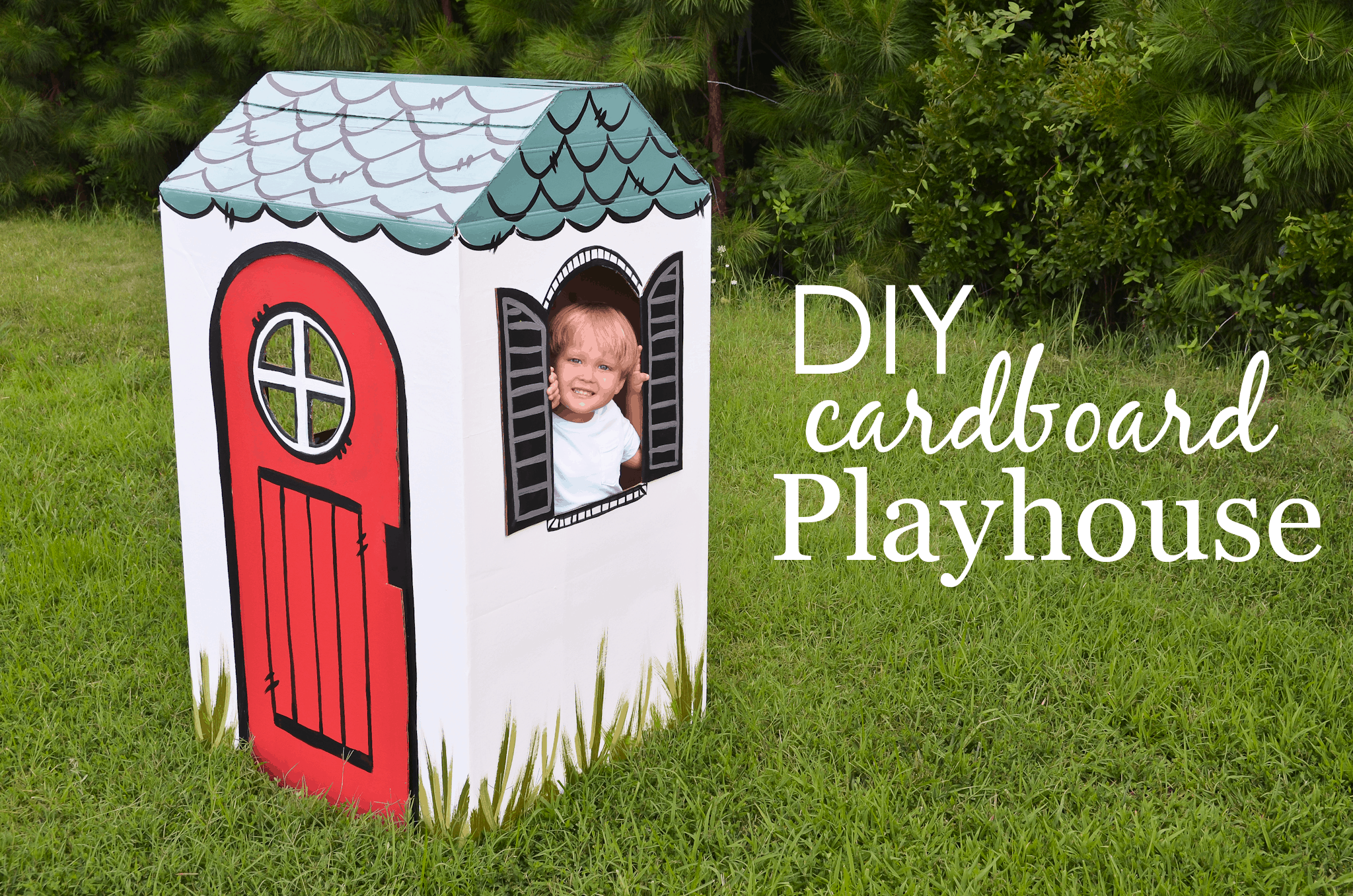 Diy cardboard playhouse