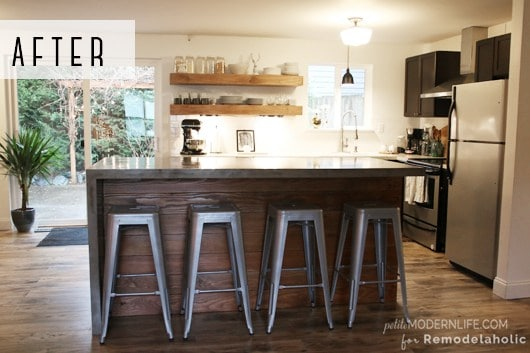 Diy concrete kitchen island