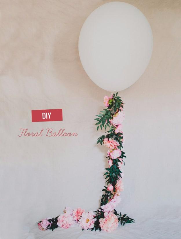 Diy floral balloons