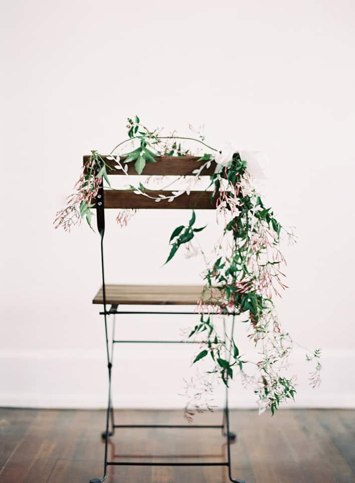 Diy floral chair gardens