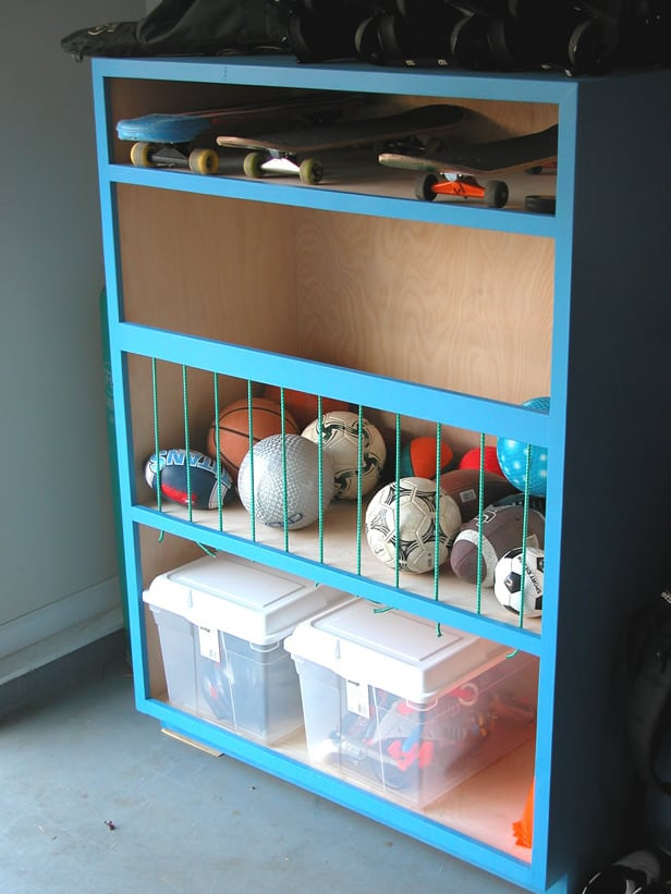 Diy garage ball caddy