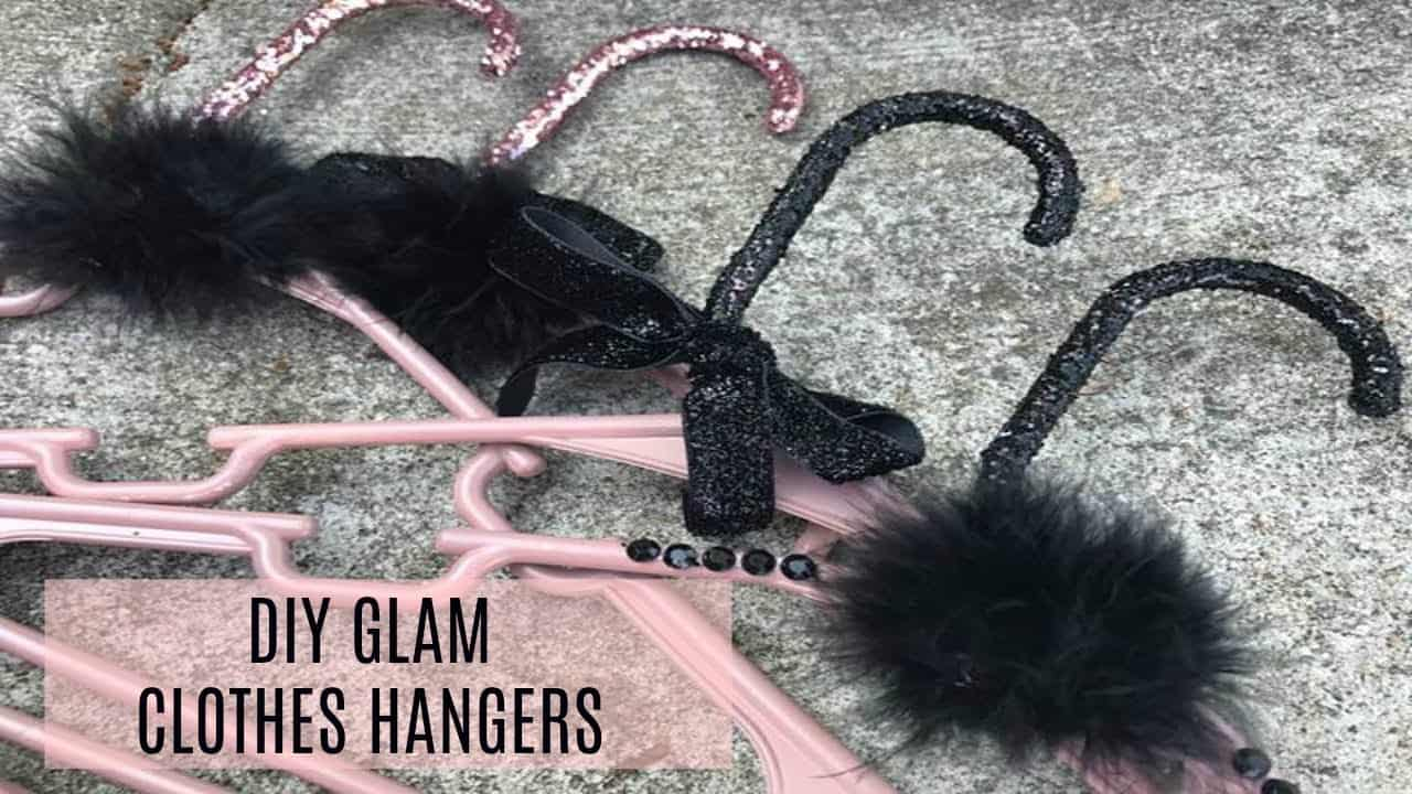 Diy glam clothes hangers