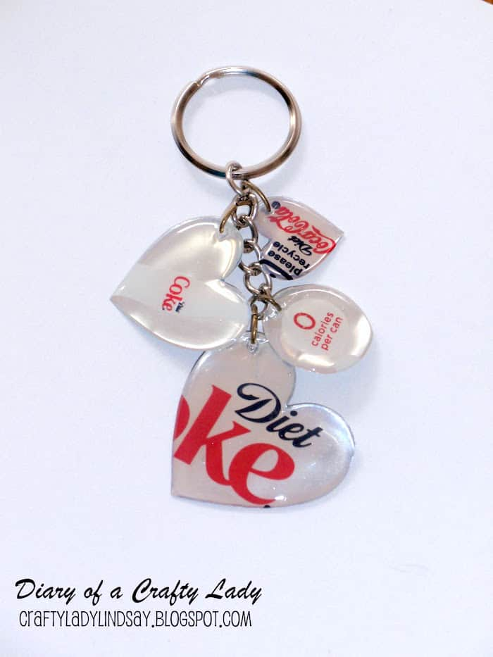 Diy keychain made from a coke can