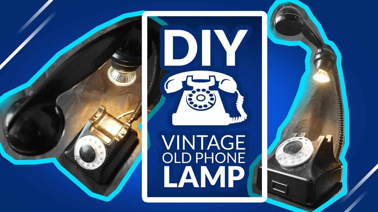 Diy lamp from a rotary phone