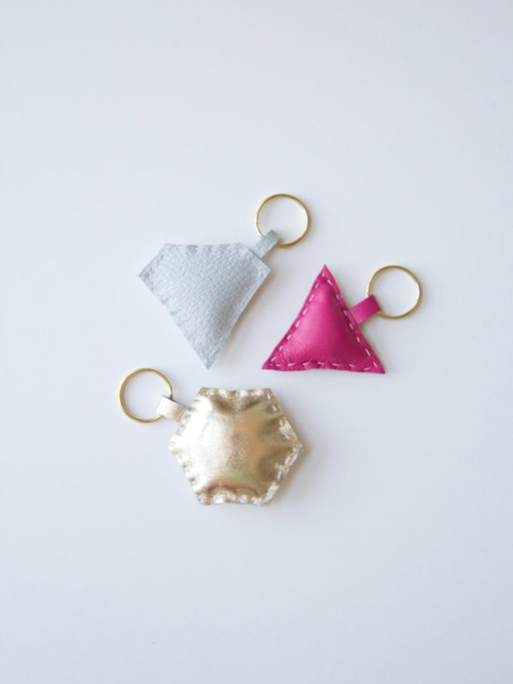 Diy leather shape keychain