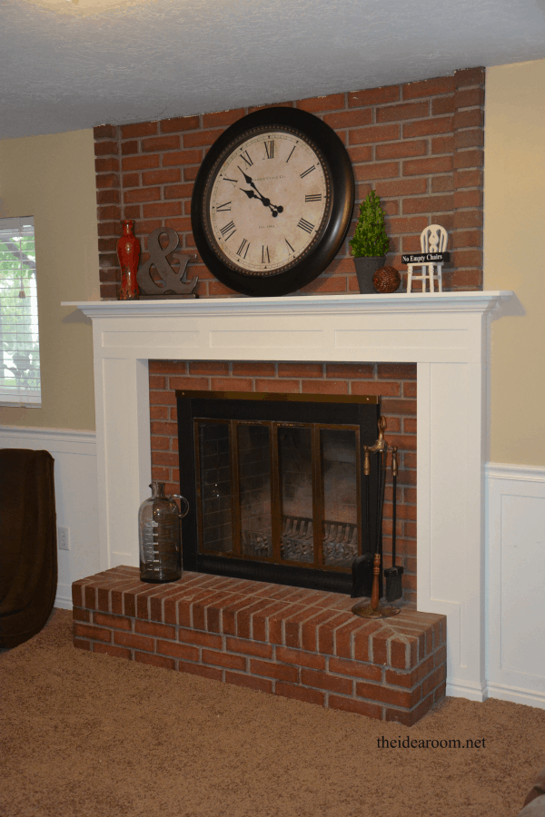 Diy manel for a brick fireplace