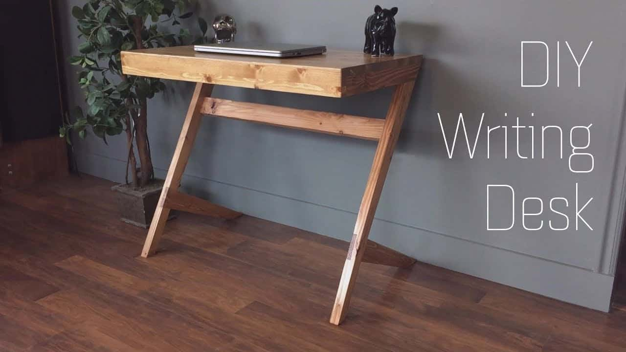 Diy modern leaning writing desk