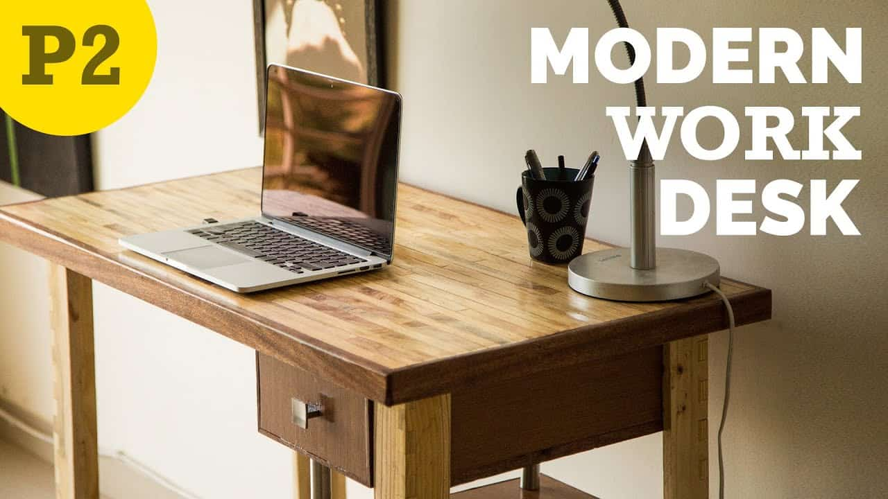 Diy modern wooden work desk