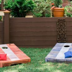 Diy pallet cornhole boards