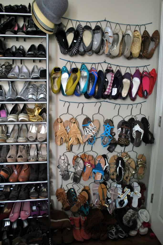 Diy shoe hangers