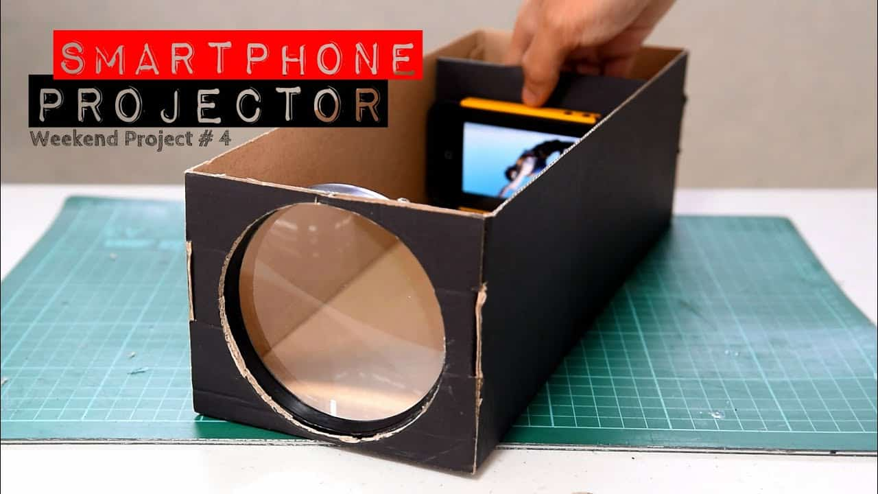 Diy smartphone projector from an old phone and cardboard