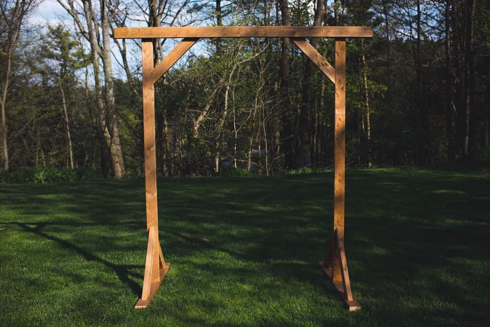 Diy wooden wedding arbor