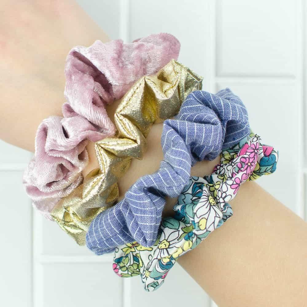Diy scrunchies from scrap fabric