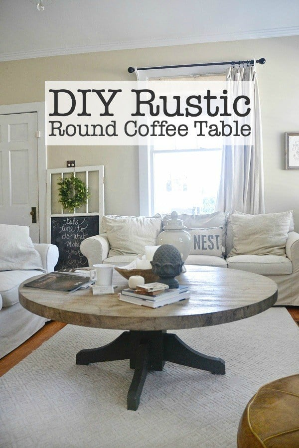 Dining table to a rounded rustic coffee table