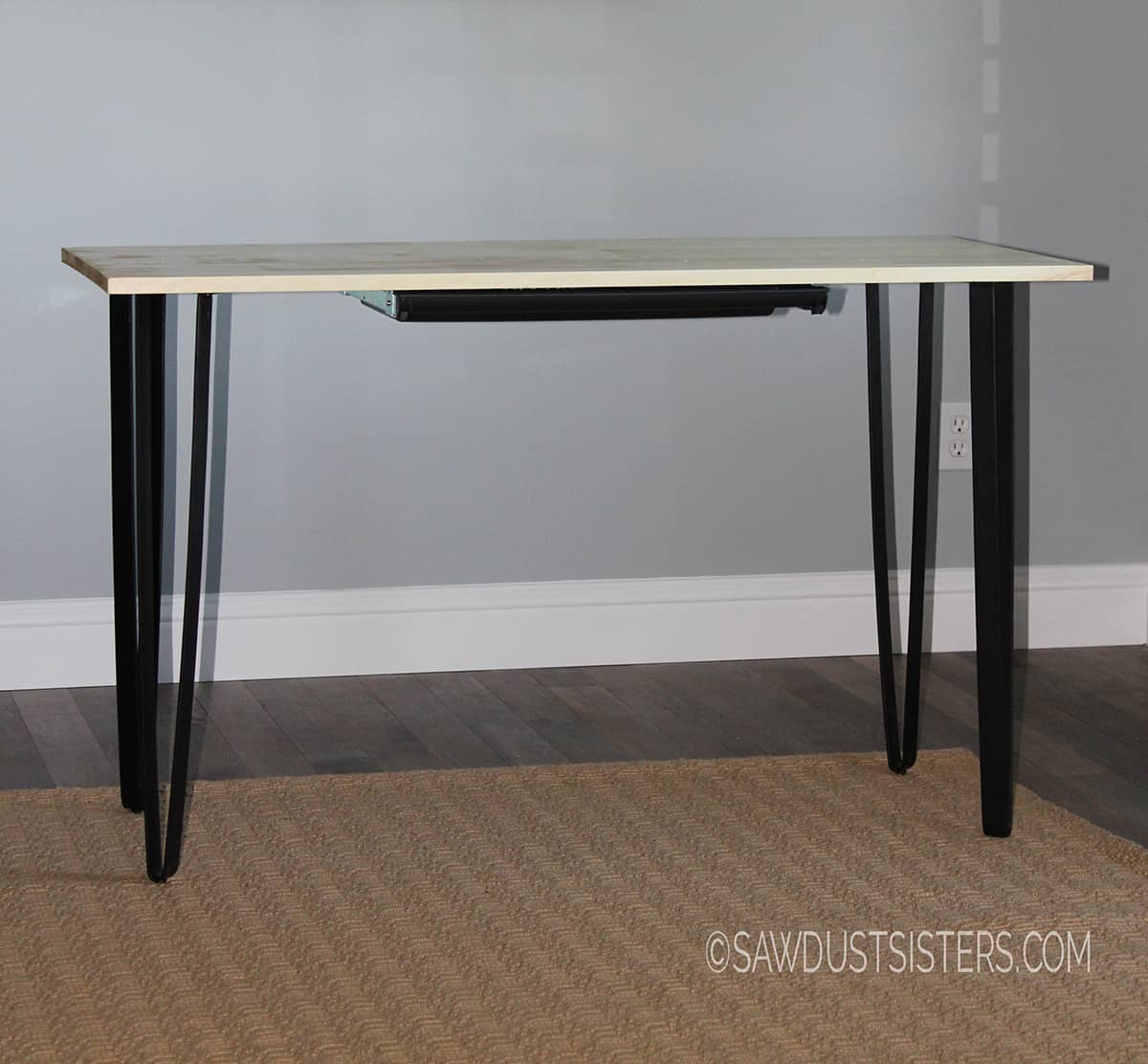 Easy hairpin leg writing desk