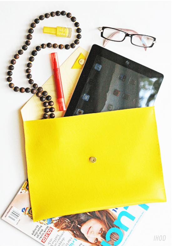 Envelope clutch style ipad case