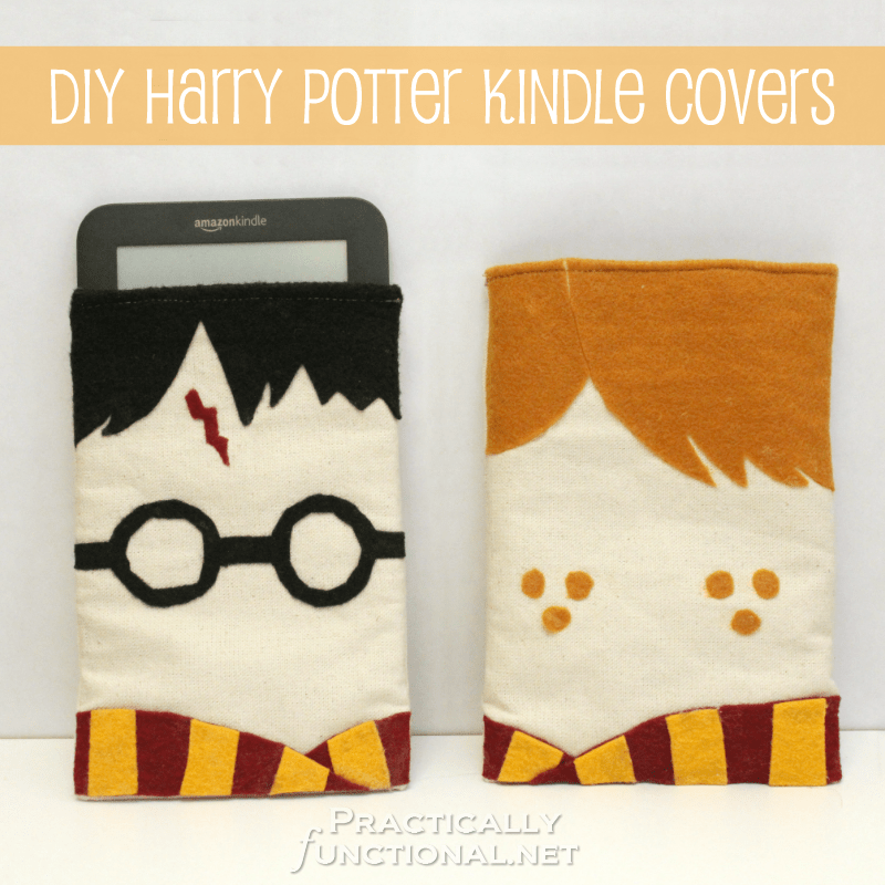 Felt harry potter themed ipad sleeves