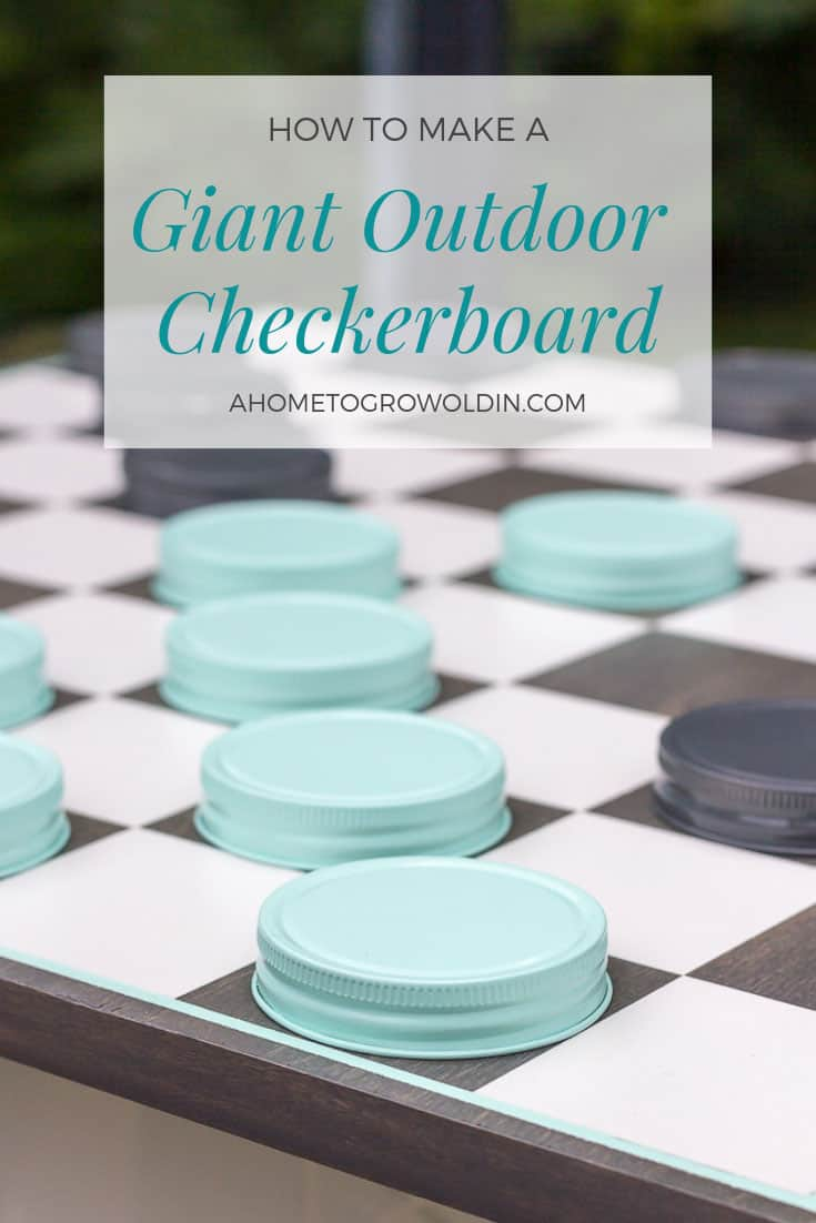 Giant outdoor checkerboard