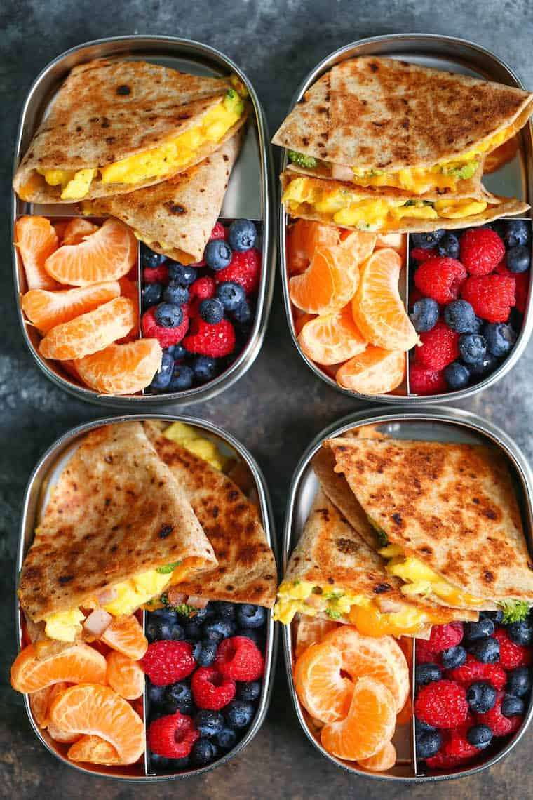 Ham egg and cheese breakfast quesadillas