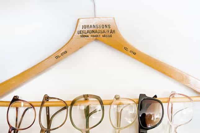 Hanger as a glasses stand