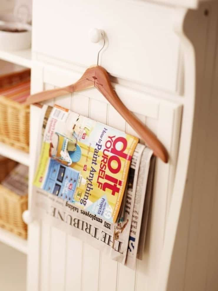Hanger as a magazine rack
