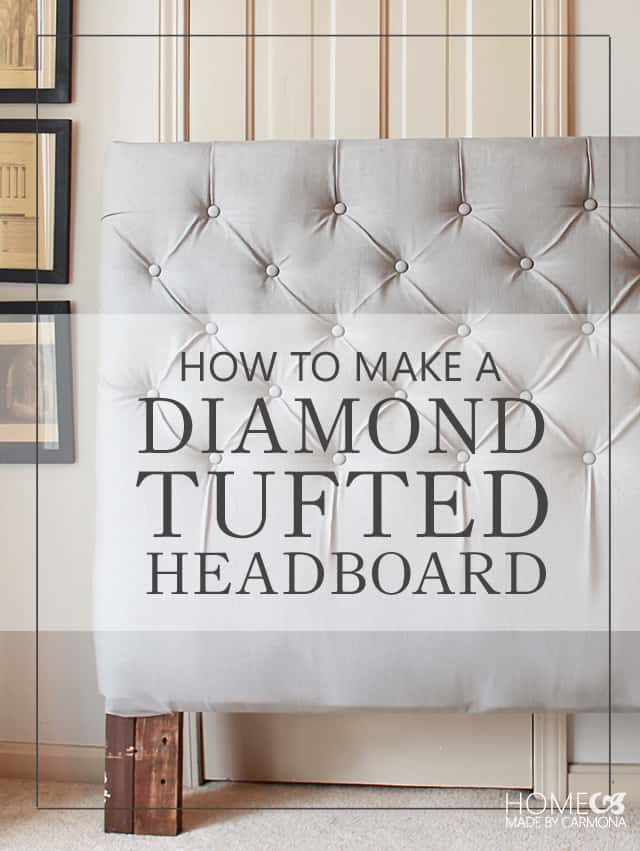 Homemade diamond tufted headboard