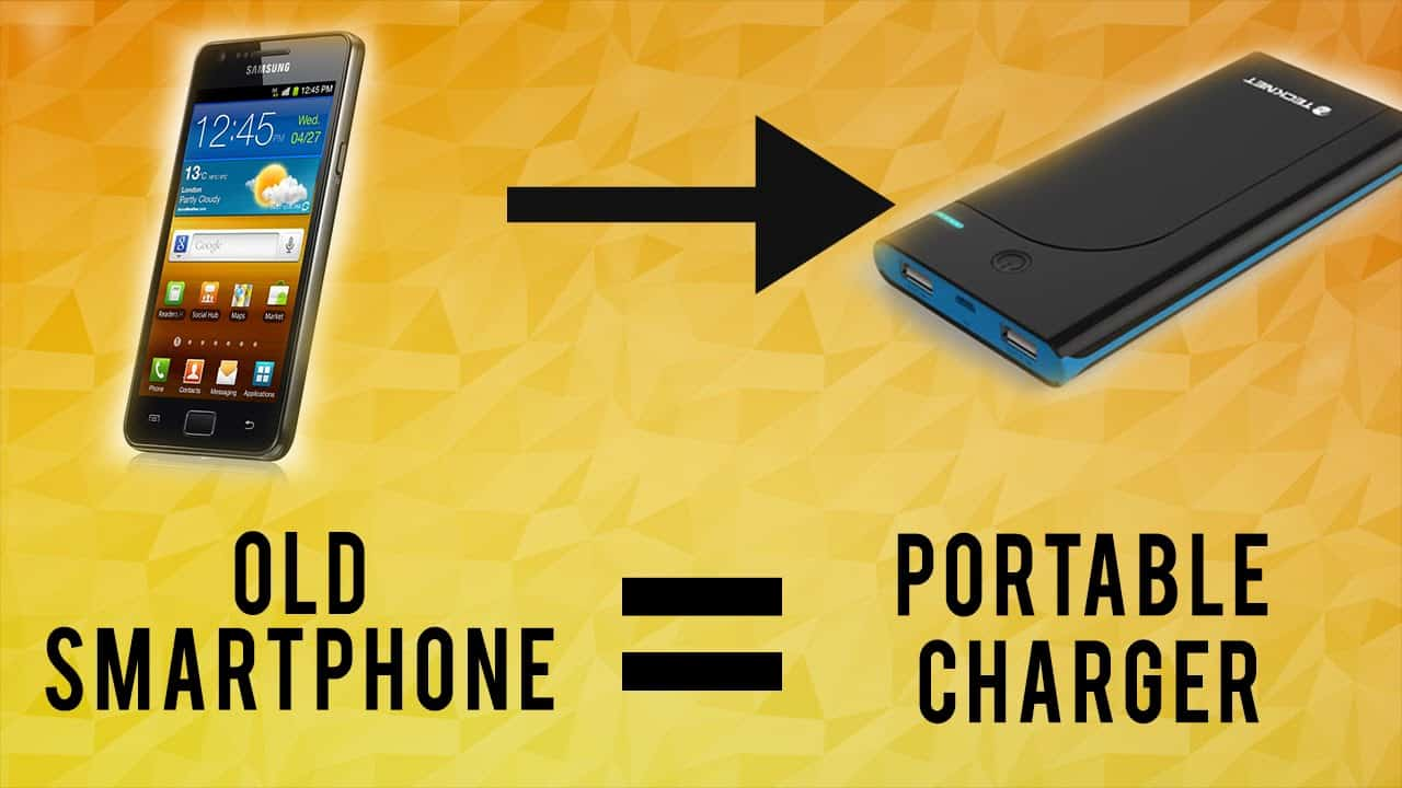 Old smartphone to porable phone charger