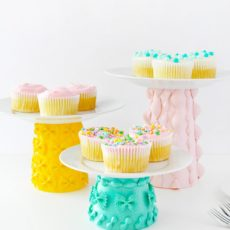 Painted pasta cake stand