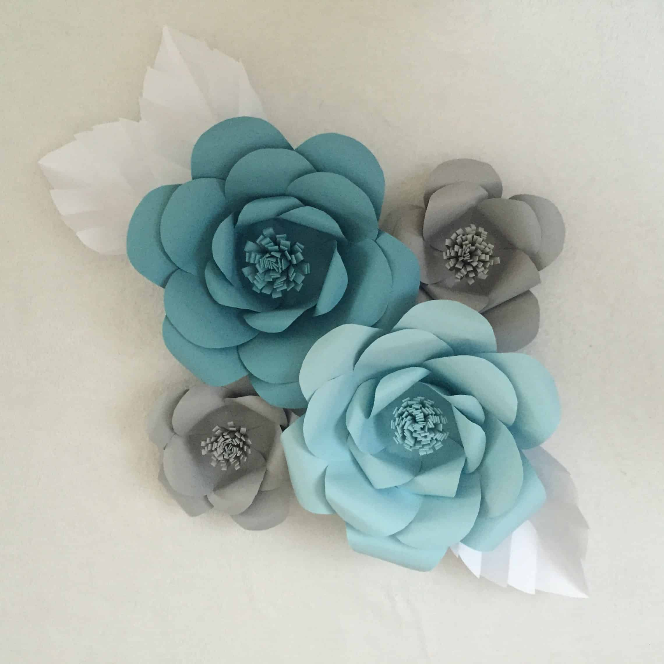 Pretty paper flowers for backdrops