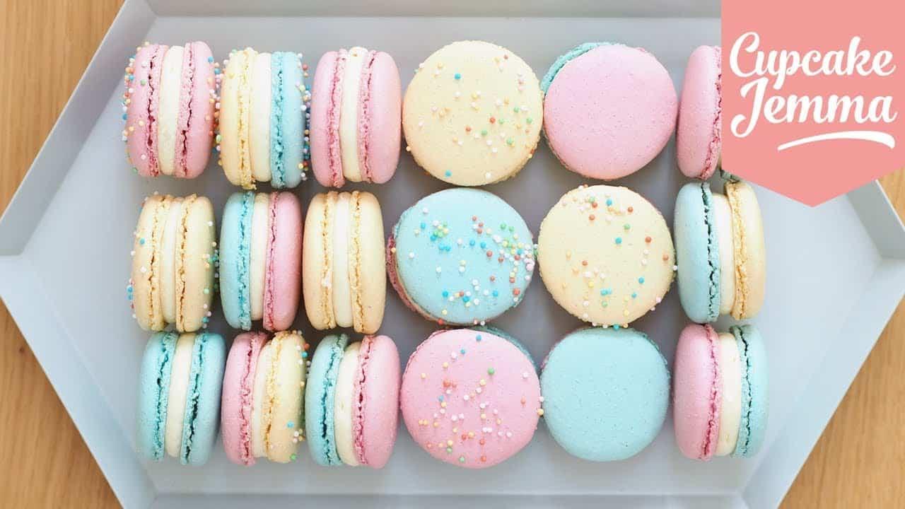 Pretty pastel sprinkle macarons