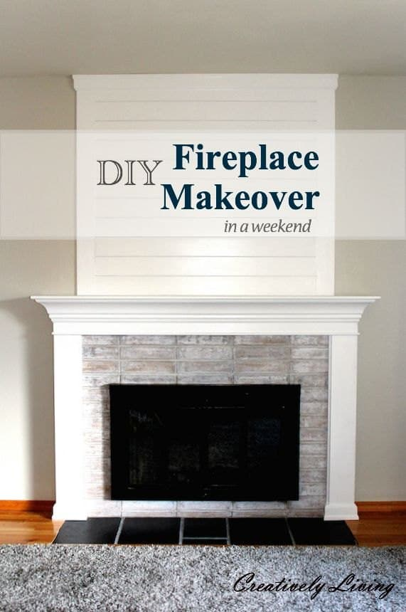 Simple fireplace makeover under $100