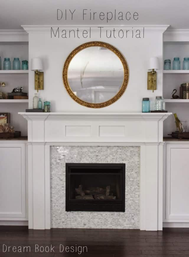 Simple mantel surround with double shelves
