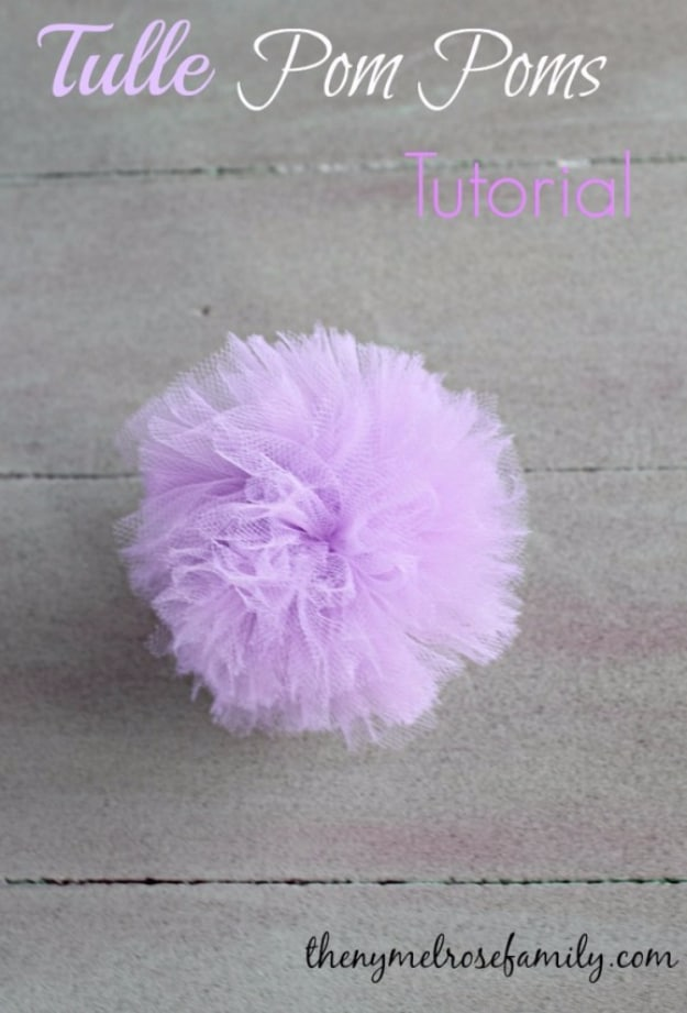 Tulle pom poms to hang