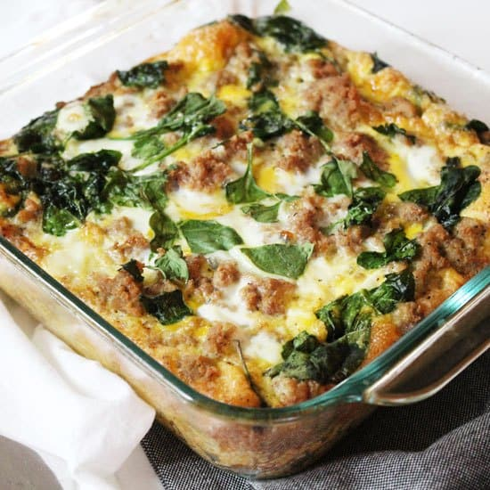 Turkey egg breakfast casserole
