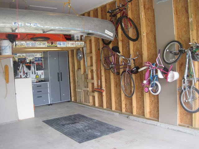 Wall stud bike hangers