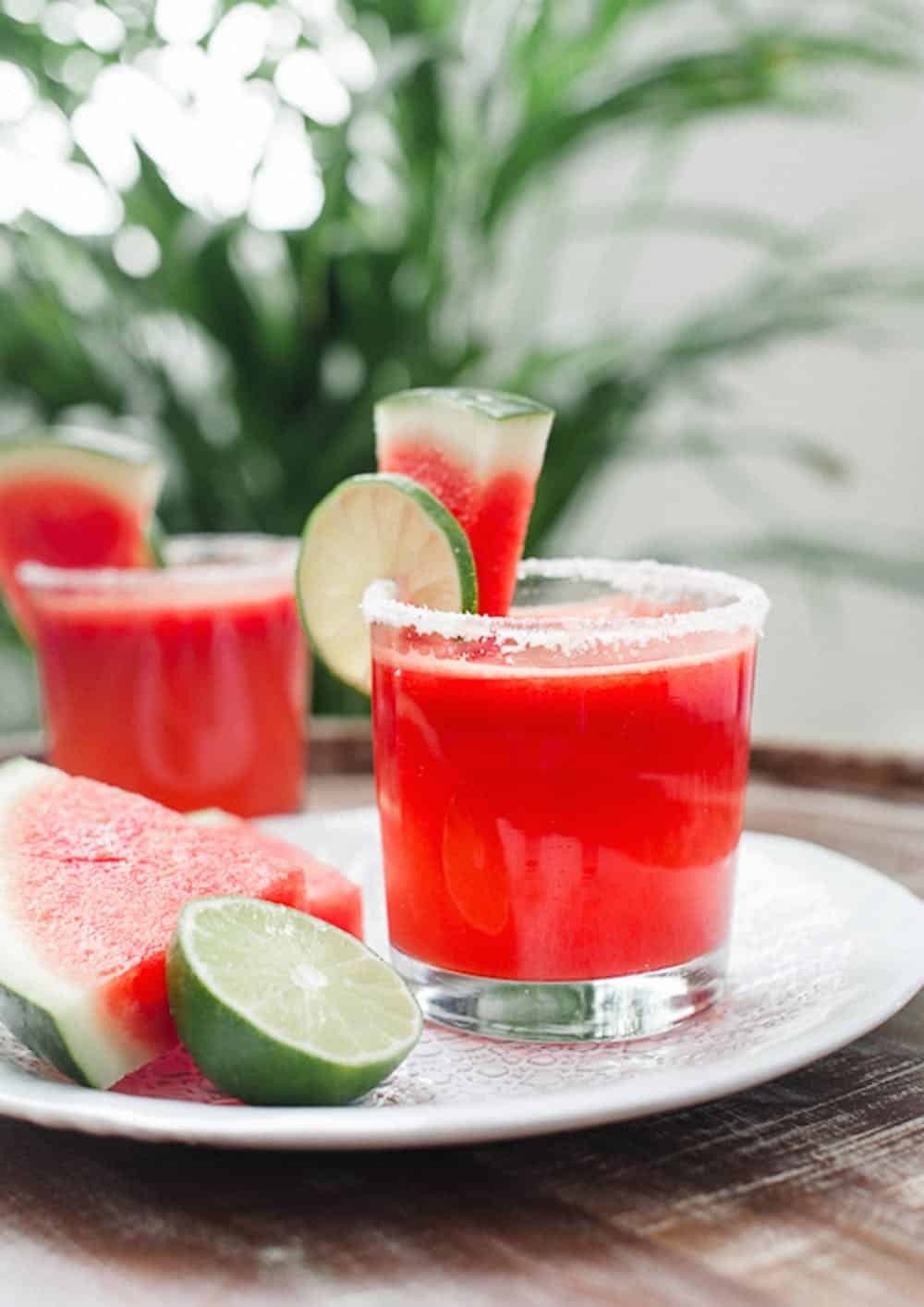 Watermelon lime margaritas