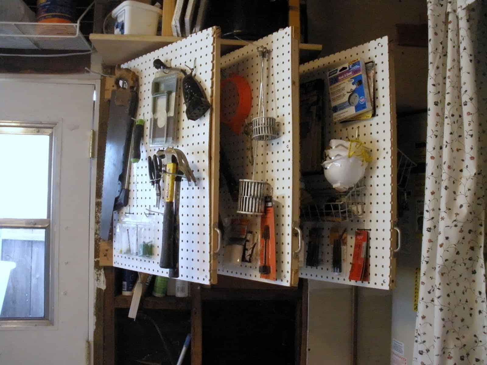 Workship pegboard tool storage